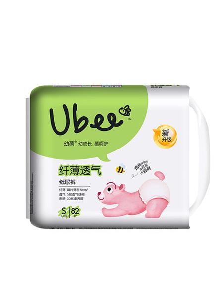 幼蓓婴童用品幼蓓婴儿纸尿裤纤薄透气干爽尿不湿S82*2包乐友孕婴童
