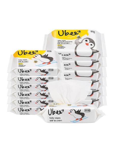 幼蓓婴童用品幼蓓婴儿木糖醇手口专用湿巾+护肤湿巾组合宝宝湿纸巾80抽12包