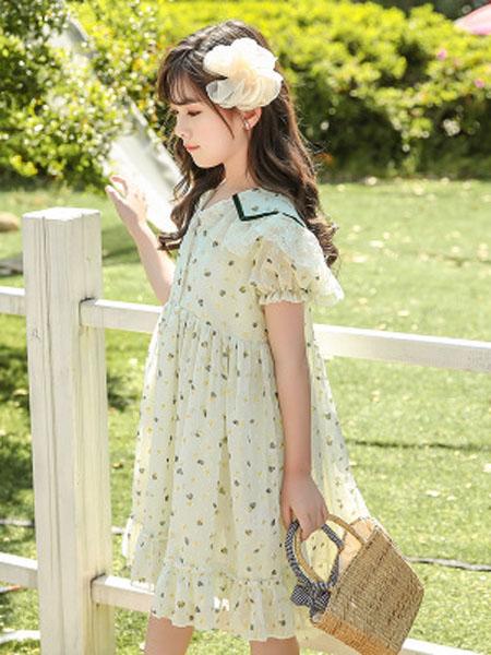 巧兜童装品牌女童连衣裙2020夏季新款森系超仙女童中大童连衣裙公主裙一件