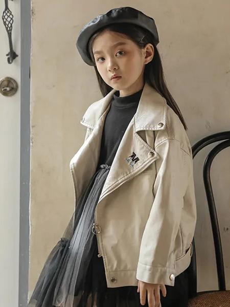 洛小米童装品牌2020秋冬浅卡其色外套