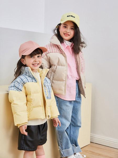 田果果童装品牌2020秋冬黄色外套