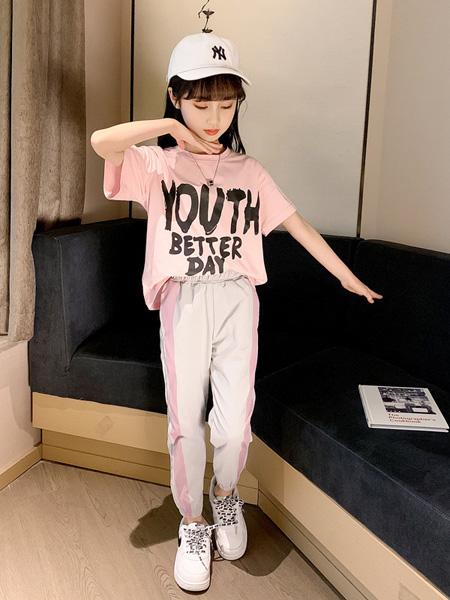 慕琛童装品牌2020春夏新款童装 女童中大童套装