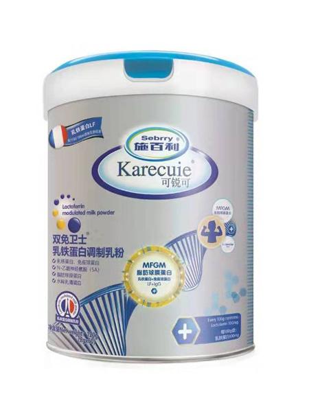 施百利婴儿食品施百利可锐可双免卫士乳铁蛋白调制乳粉120g