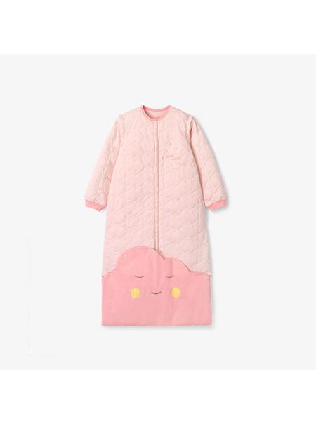 英氏婴童用品英氏婴幼儿睡袋 儿童可脱卸袖薄夹棉防踢被睡袋