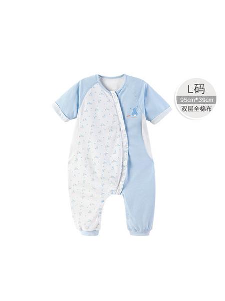 英氏婴童用品英氏新生儿双层分腿睡袋男童睡袋春夏薄款S-XL码