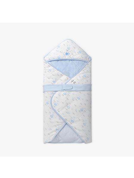 英氏婴童用品英氏婴儿包被纯棉抱被新生儿盖被襁褓连帽宝宝睡袋薄款春夏四季款