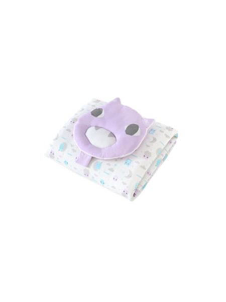 英氏婴童用品英氏新生婴儿床上用品套装 宝宝四季被枕头2件床品套装