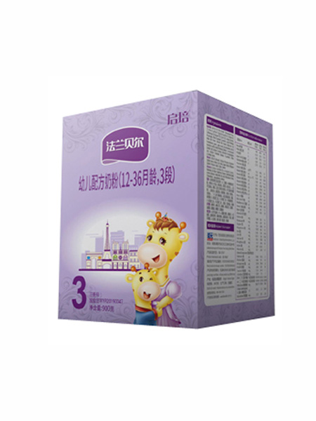 圣元启培婴儿食品法国原装进口法兰贝尔幼儿配方奶粉(12-36月龄,3段)盒装