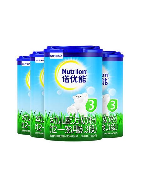 诺优能婴儿食品Nutrilon诺优能婴幼儿配方奶粉3段4罐装品牌卡专用