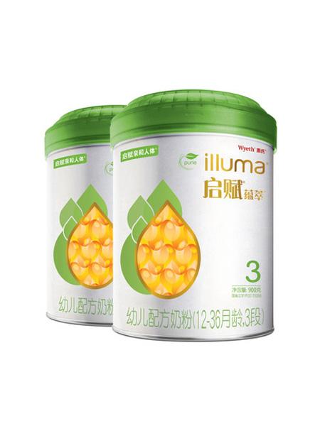 惠氏启赋婴儿食品启赋全乳糖有机3段婴幼儿配方牛奶粉900g*2罐 爱尔兰进口