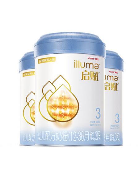 惠氏启赋婴儿食品启赋3段婴幼儿配方牛奶粉900g*3罐 爱尔兰进口