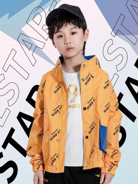 兽霸童品童装品牌2020秋冬黄色字母外套