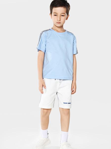 TOYI童装品牌2020春夏蓝色T恤