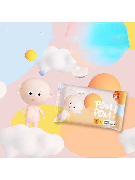 好孩子婴童用品gb好孩子 嘭嘭超薄透气纸尿裤宝宝尿不湿SM6片