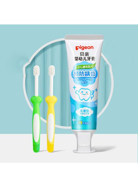 贝亲 - pigeon婴童用品儿童牙刷牙膏口腔清洁婴幼儿乳牙1-2-3岁进口