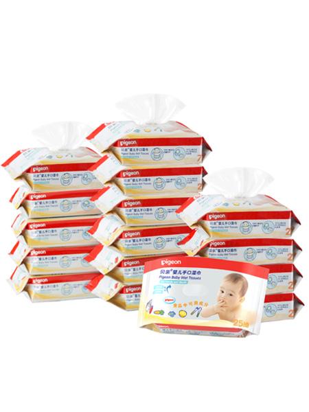 贝亲 - pigeon婴童用品婴儿手口专用宝宝湿巾25片x16包 便携装PL138