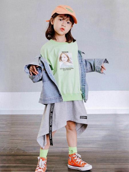 快乐精灵童装品牌2020秋冬浅色牛仔外套