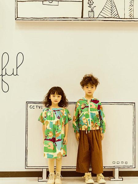 NNE&KIKI童装品牌2020春夏绿色连衣裙