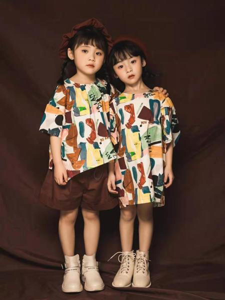 NNE&KIKI童装品牌2020春夏圆领宽松上衣短裤