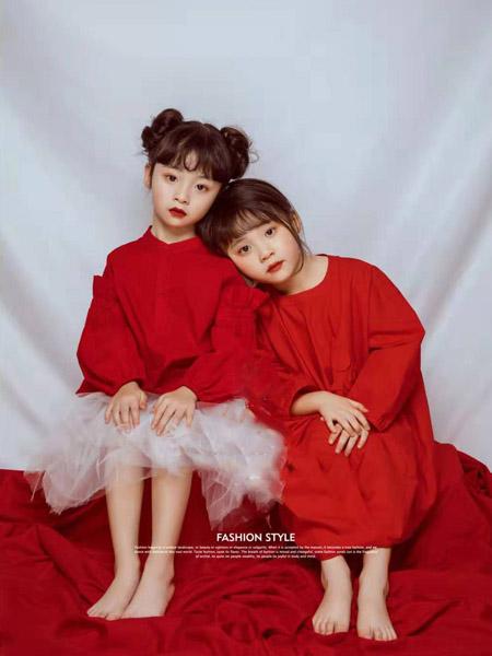 NNE&KIKI童装品牌2020春夏大红色连衣裙