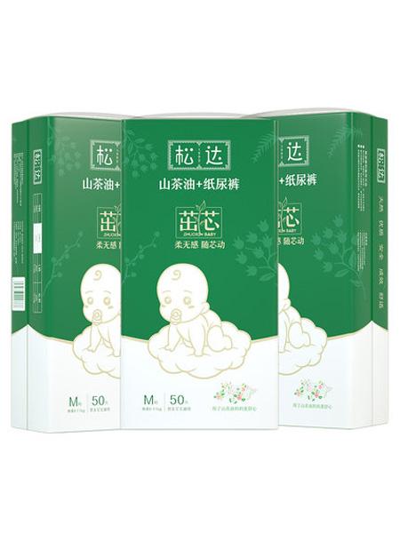 松达婴童用品松达山茶油茁芯纸尿裤M50片*3包 超薄透气男女通用婴儿尿不湿尿片