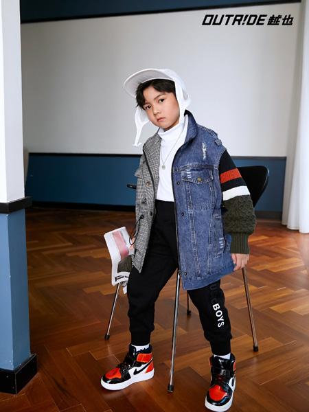 Outride越也童裝品牌2020秋冬拼接款時尚外套