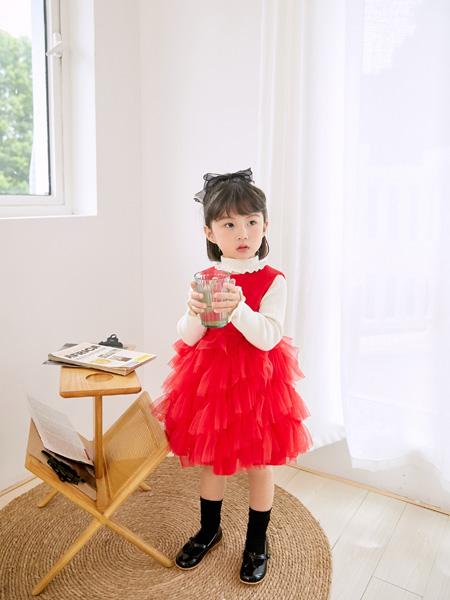 安墨Anmo童装品牌2020秋冬女童可爱背心公主裙