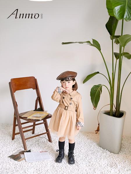 安墨Anmo童�b品牌2020秋冬�r尚女童�L衣外套