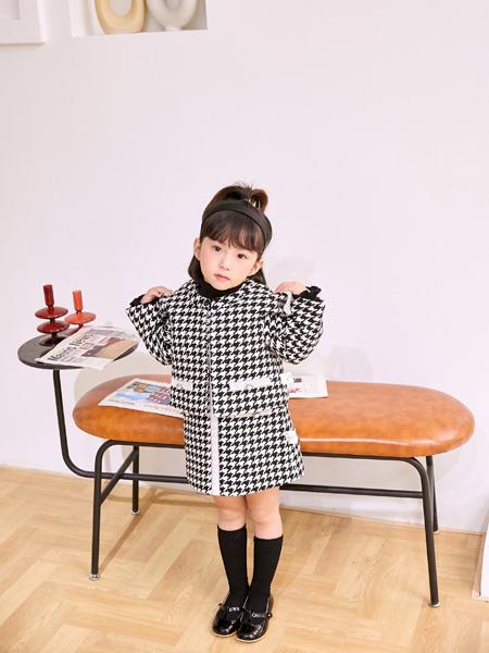 安墨Anmo童�b品牌2020秋冬小香�L黑白外套