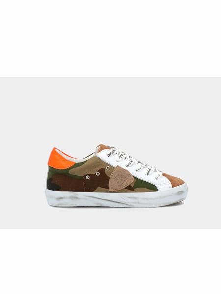 philippemodel童鞋品牌2020春夏迷彩系带板鞋