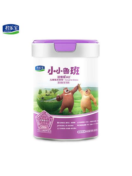君乐宝婴儿食品4段小小鲁班诠维爱AⅡ儿童成长奶粉800g*1罐