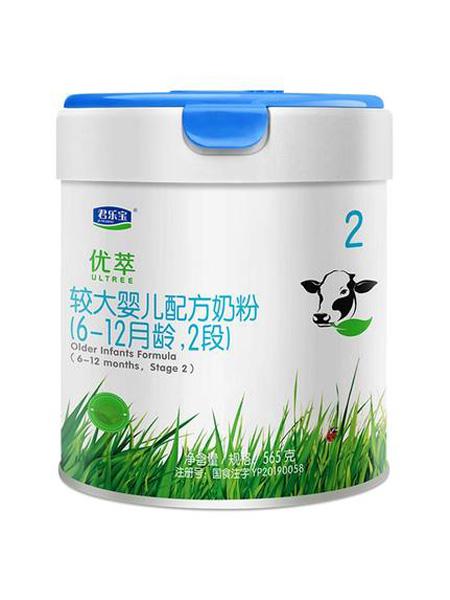 君乐宝婴儿食品优萃有机2段较大婴儿配方牛奶粉 565g*1罐