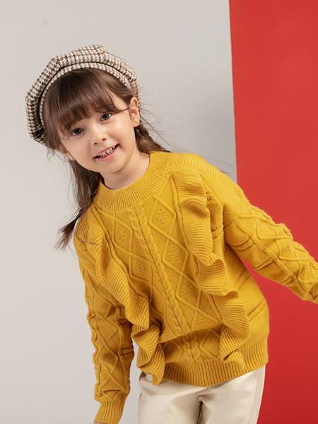 宝贝传奇童装品牌2020秋冬黄色毛衣