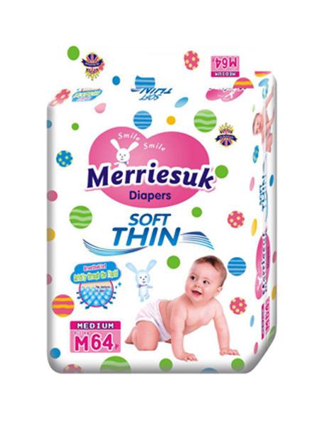 merriesuk婴童用品merriesuk芯体纸尿裤M码64片(6~11kg)
