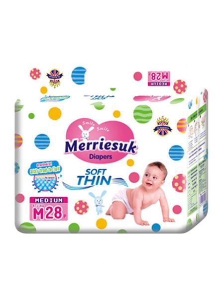 merriesuk婴童用品merriesuk芯体纸尿裤M码28片(6~11kg)