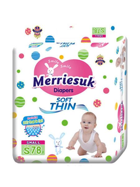 merriesuk婴童用品merriesuk芯体纸尿裤S码78片(4~8kg)