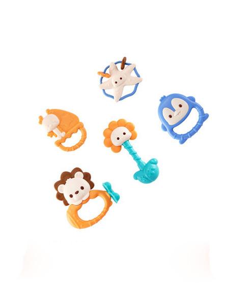 澳贝婴童用品澳贝牙胶玩具分龄摇铃手抓可水煮磨牙0-3月新生儿益智礼盒