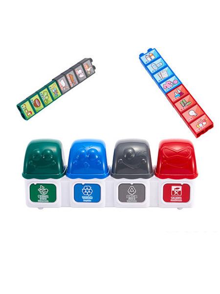 澳贝婴童用品澳贝垃圾分类游戏道具儿童早教垃圾桶桌面益智类逻辑思维训练玩具