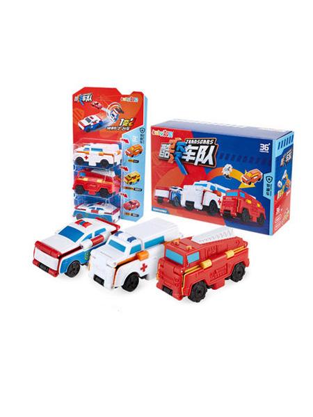 澳贝婴童用品澳贝反反车口袋车车酷变车队迷你创意变形车儿童玩具车