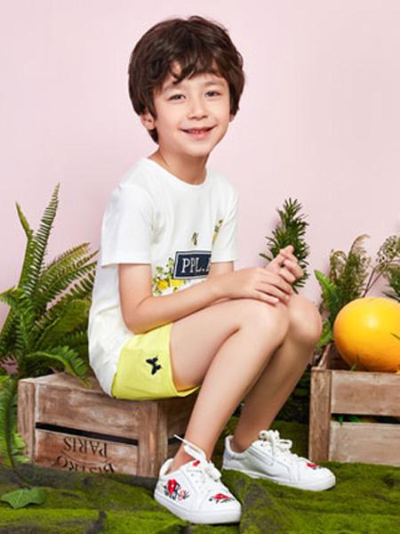 poipoilu(泡泡噜)童装品牌2020春夏圆领白色T恤