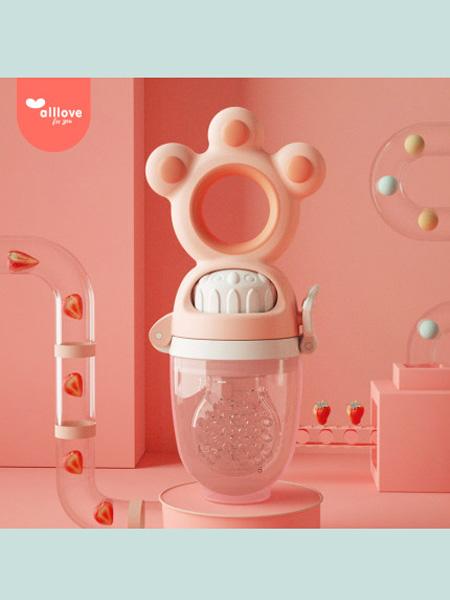 澳乐婴童用品澳乐婴幼儿咬咬牙胶乐玩具宝宝磨牙果蔬硅胶袋可推进水果辅食神器