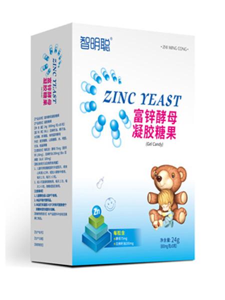 智明聪婴儿食品智明聪富锌酵母凝胶糖果竖盒