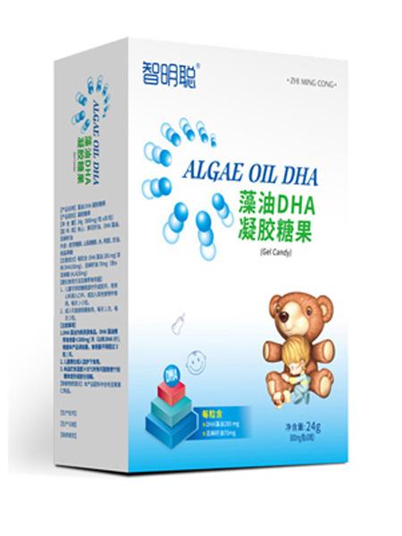 智明聪婴儿食品智明聪藻油DHA凝胶糖果竖盒