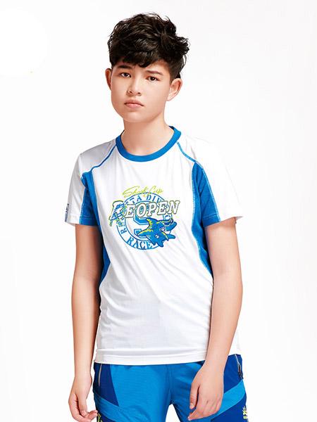 太阳石童装品牌2020春夏童装功能短袖T恤