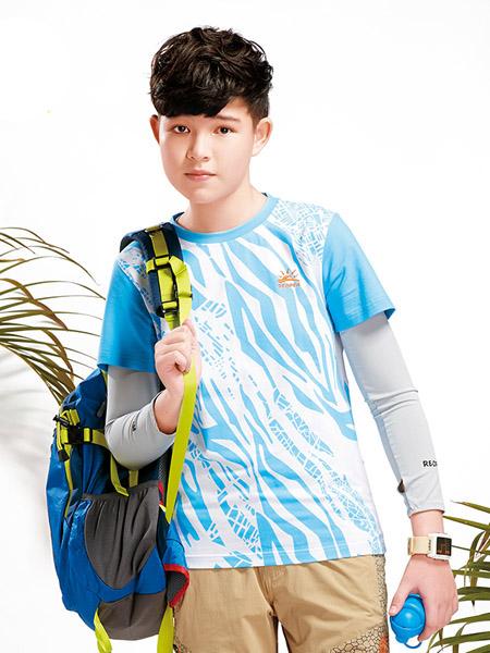 太阳石童装品牌2020春夏童装短袖棉T恤