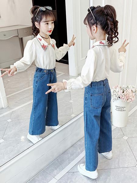芊芊天使童装品牌2020秋冬长袖白色衬衫