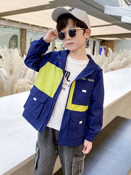 宝贝亨亨童装品牌2020秋冬深蓝色外套