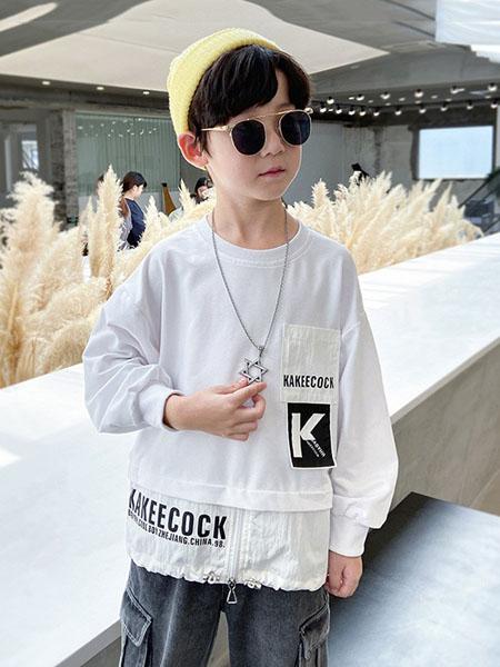 宝贝亨亨童装品牌2020秋冬圆领白色卫衣