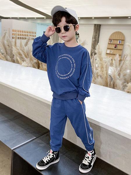 宝贝亨亨童装品牌2020秋冬圆领深蓝色套装