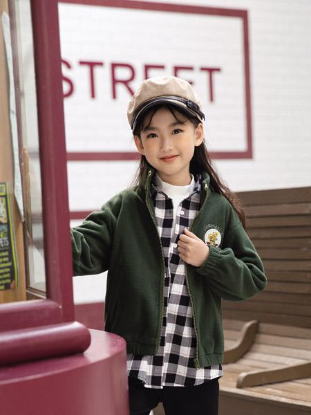 德蒙斯特童�b品牌2020秋冬青色��外套